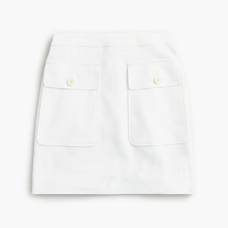 J.Crew: Patch-pocket Skirt In Stretch Linen For Women