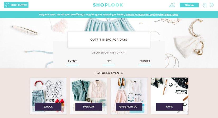 shoplook app screen - Google Search
