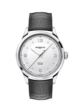 Montblanc Heritage Stainless Steel & Alligator Strap Automatic Watch | SaksFifthAvenue