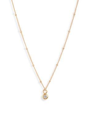 Set & Stones Willow Cubic Zirconia Pendant Necklace | Nordstrom