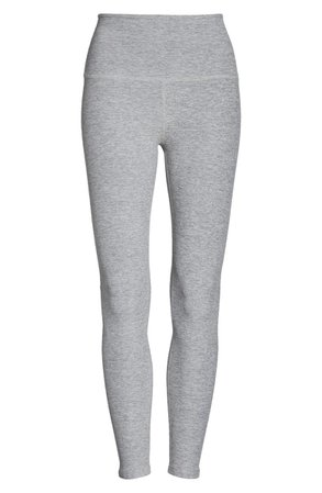 Beyond Yoga Midi High Waist Leggings | grey