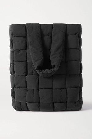 Black Intrecciato nylon tote | Bottega Veneta | NET-A-PORTER
