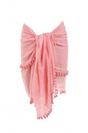 Pareo Beach Sarong Cover Up in Rose   Melissa Odabash