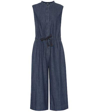Chambray cotton jumpsuit