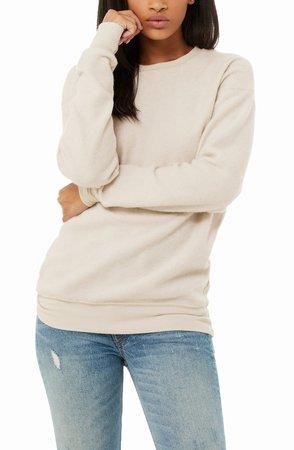 Sueded Crewneck Sweatshirt