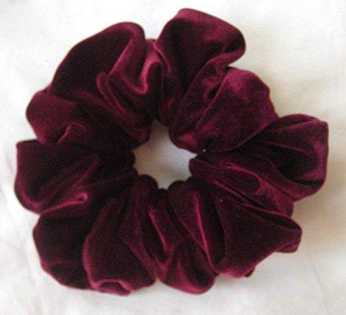 Amazon.com : Burgundy Velvet Scrunchies-Jumbo - Made in the USA : Beauty