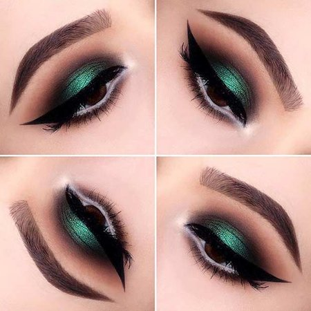 Green Eye Makeup\
