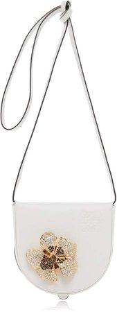 Loewe Heel Flower Broach Leather Pouch Crossbody Bag