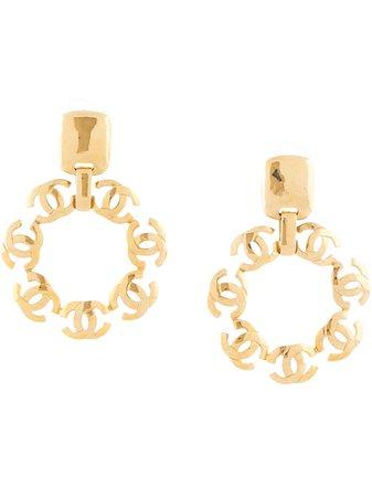 Chanel Pre-Owned 1997 Cc Hoop Earrings Vintage | Farfetch.Com