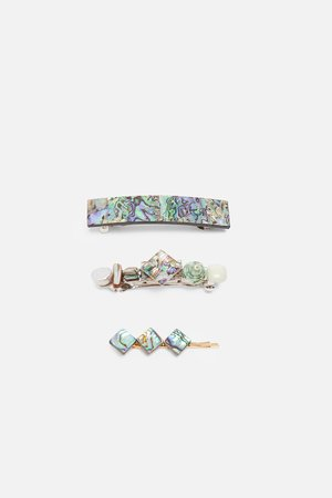 PACK OF ABALONE SHELL HAIR PINS - View All-ACCESSORIES-WOMAN | ZARA United States