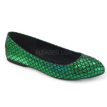Green Mermaid Flats