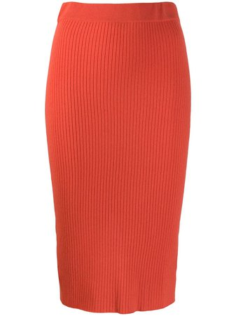 Orange Cashmere In Love ribbed knitted skirt - Farfetch