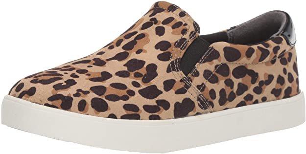 Amazon.com | Dr. Scholl's Shoes womens Madison Sneaker, Tan/Black Leopard Microfiber, 10 Wide US | Shoes