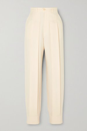 Gucci | Pleated wool tapered pants | NET-A-PORTER.COM