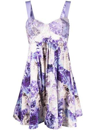 Elisabetta Franchi Floral bodice-detail Dress - Farfetch