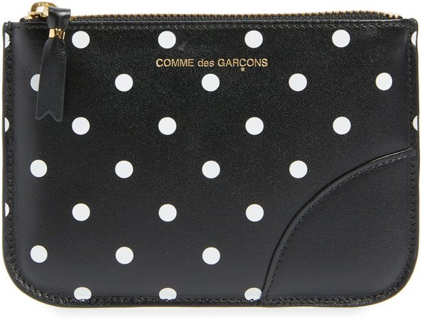 Small Dot Print Pouch