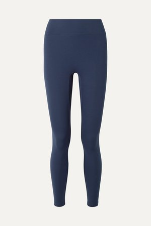 Navy Center Stage stretch leggings   All Access   NET-A-PORTER