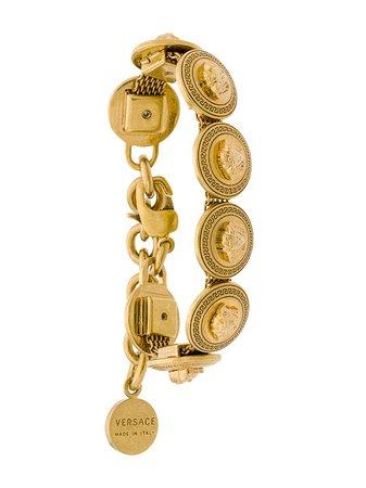 Versace Medusa Coin Bracelet DG0G408DJMT Metallic | Farfetch