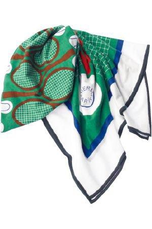 テニス柄のスカーフ - エルメス(HERMÈS) | アイテムサーチ |VOGUE JAPAN