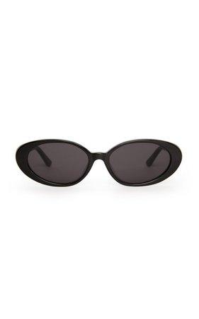 The Poet Round-Frame Acetate Sunglasses By Velvet Canyon   Moda Operandi
