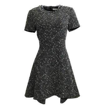 Christian Dior Dior Black/White Multi Tweed Work/Office Dress | Luxury Garage Sale