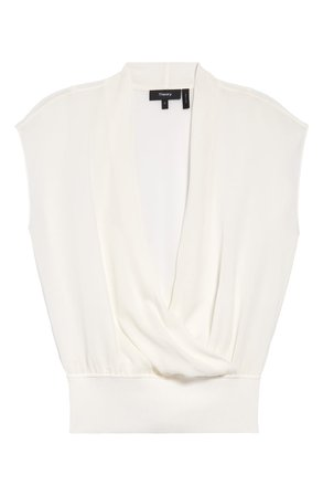 Theory Silk Wrap Top   Nordstrom