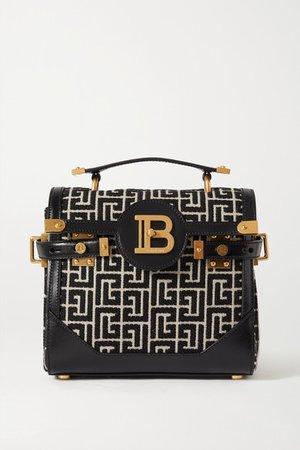 B-buzz 23 Leather-trimmed Jacquard Shoulder Bag - Black