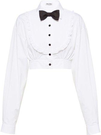 Miu Miu bow-detail blouse