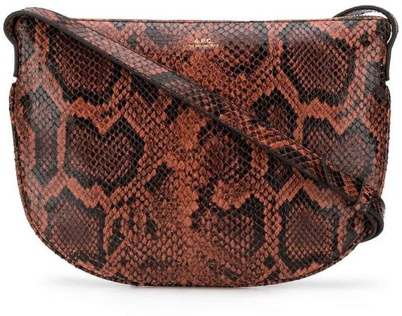 snakeskin-effect crossbody bag