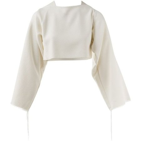 Céline White Viscose Top