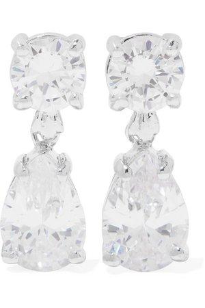 Kenneth Jay Lane | Silver-tone cubic zirconia earrings | NET-A-PORTER.COM
