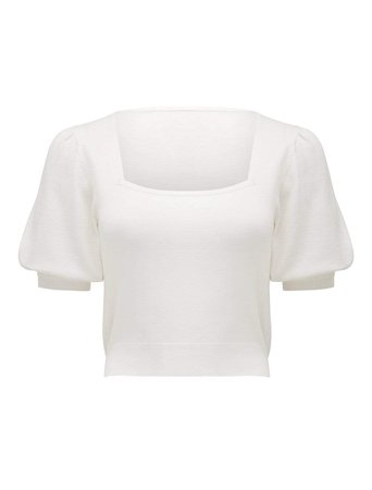 Kenzie Square Neck Knit Tee - Womens Fashion Online | Ever New Clothing white