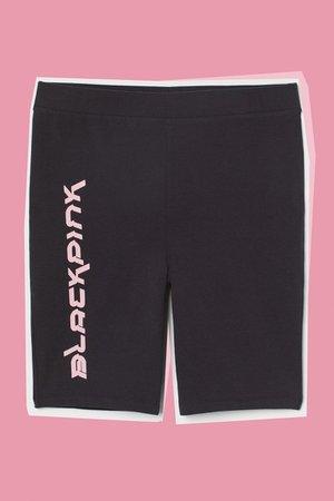 H&M+ High Waist Bike Shorts - Black/Blackpink - Ladies   H&M US