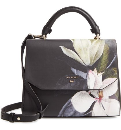 Ted Baker London Adeliah Opal Floral Print Faux Leather Top Handle Bag   Nordstrom