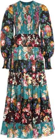 Allia Floral-Print Silk-Chiffon Maxi Dress