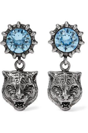 Gucci   Silver-tone aquamarine earrings   NET-A-PORTER.COM