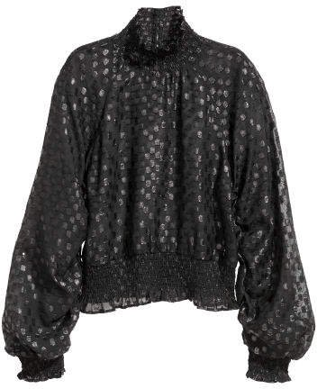 Ruffled Blouse - Black