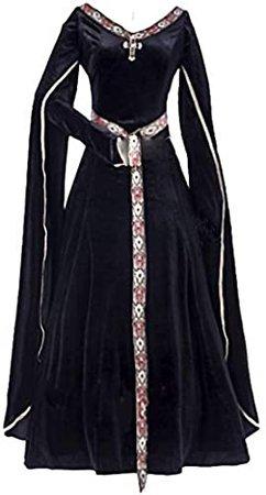 Amazon.com: 1791's lady Women's Elven Black Medieval Renaissance Costume Gown Dress: Clothing