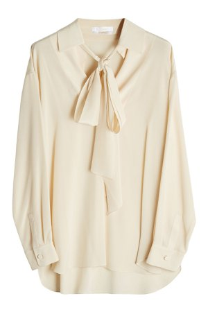 Silk Blouse with Pussy Bow Gr. FR 40