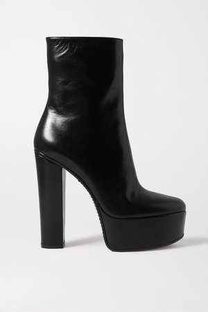 Black Leather platform ankle boots   Givenchy   NET-A-PORTER