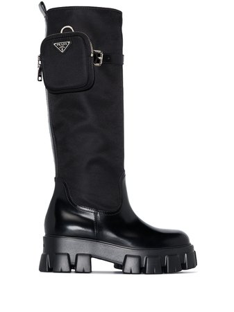 Prada Chunky Sole knee-length Boots - Farfetch