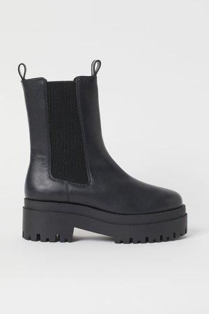 Platform Chelsea-style Boots - Black