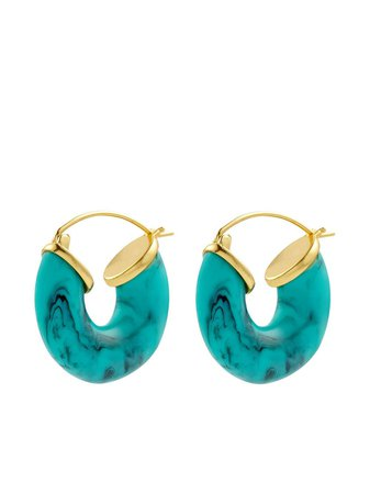 Shop Anni Lu Swell hoop earrings with Express Delivery - FARFETCH