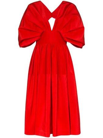 Alexander McQueen Flared Midi Dress - Farfetch