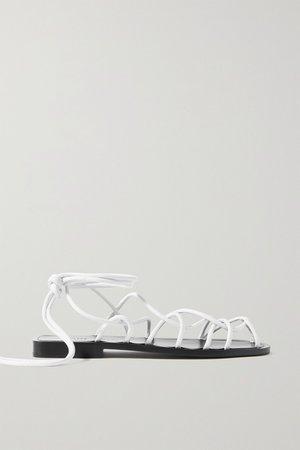 White Lyon leather sandals | Khaite | NET-A-PORTER