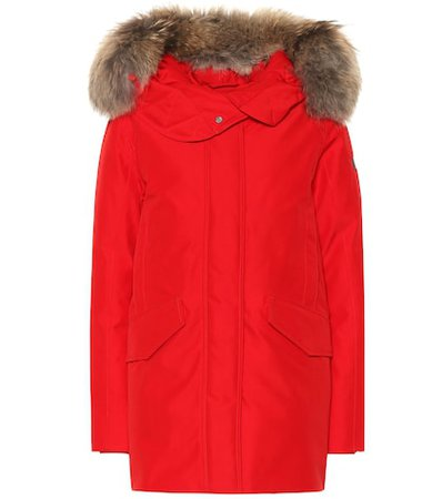 Saranac fur-trimmed down parka