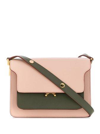Green Marni Panelled Shoulder Bag | Farfetch.com