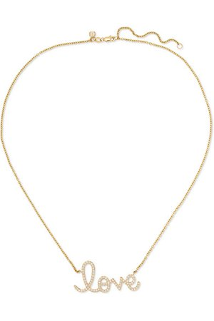 Sydney Evan | Big Love 14-karat gold diamond necklace | NET-A-PORTER.COM
