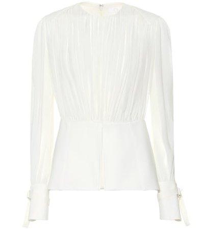 Silk pongé blouse