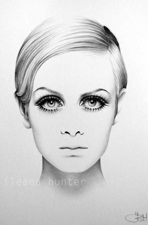 Twiggy, Black and white